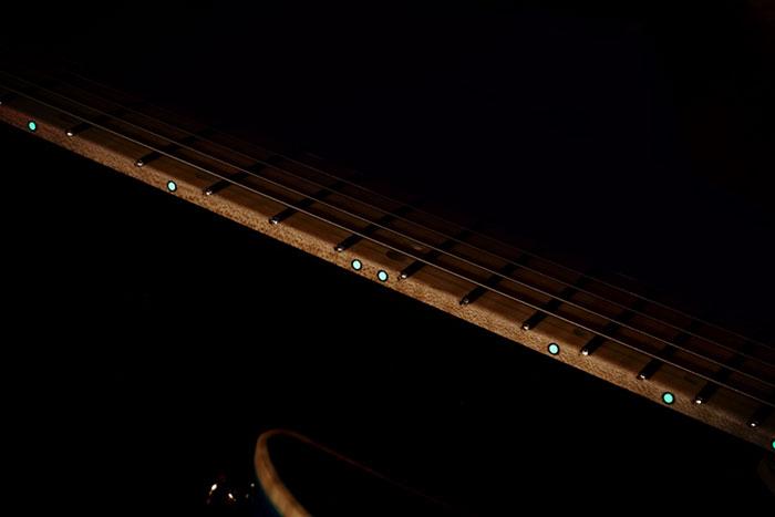 Luminescent side dot inlays