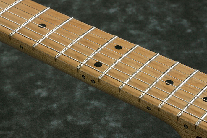 Roasted Maple fretboard w/Black dot inlays