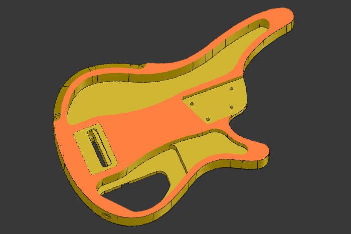 Semi-hollow body construction