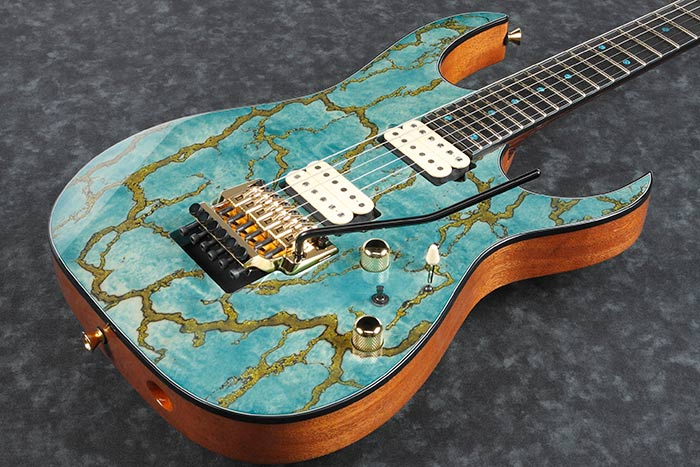 Exotic Maple & Gold Resin top / African Mahogany body