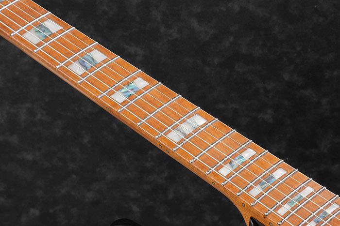 Roasted Maple fretboard w/Acrylic & Abalone block inlays