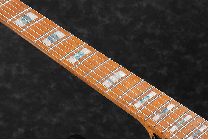 Roasted Maple fretboard w/Acrylic & Abalone block inlay