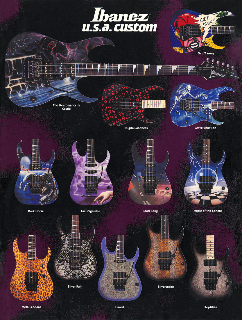 1999 IBANEZ Electric Guitar /& Bass CATALOG Full Color **NEW**