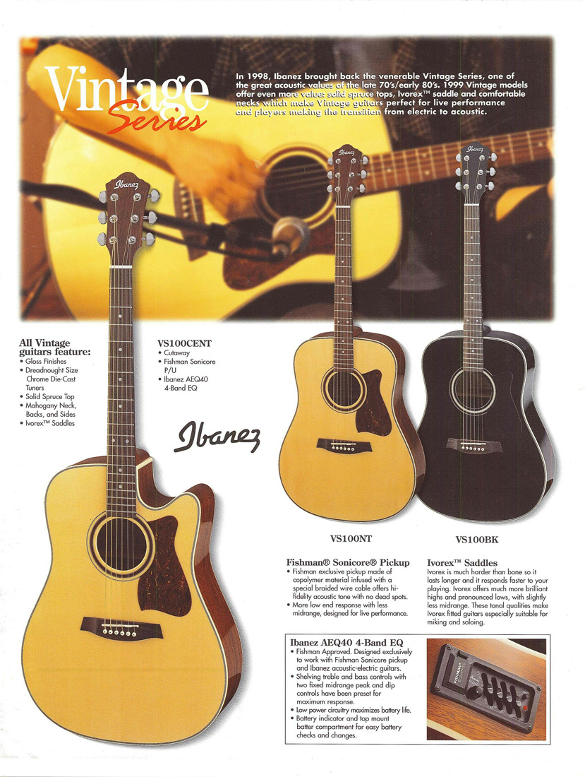 1999 Acoustic Guitar Leaflet for USA